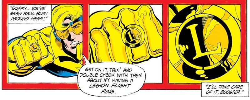 Flight Ring. Image Copyright DC Comics