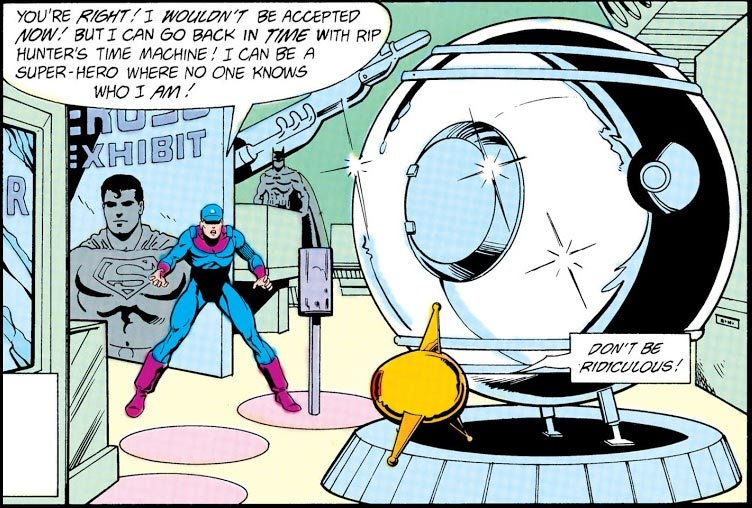 Time Bubble. Image Copyright DC Comics