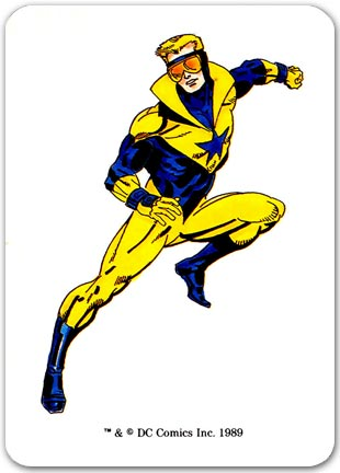 Booster Gold Illustrated Character Card ™ and © DC Comics Inc. 1989