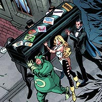 Booster Gold's Pallbearers. Image © DC Comics