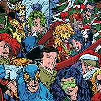 Christmas Party Guests. Image © DC Comics
