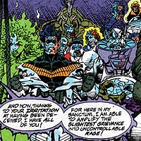 Heroes united against Eclipso. Image © DC Comics