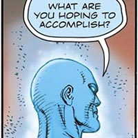 Doctor Manhattan. Image © DC Comics