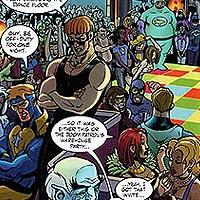 Plastic Man's Partygoers. Image © DC Comics