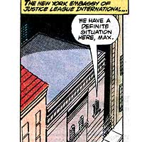 Justice League International Embassies. Image © DC Comics