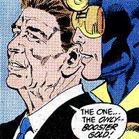 Ronald Reagan. Image © DC Comics