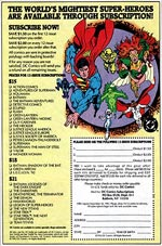 Subscription Card, 1992. Image © DC Comics