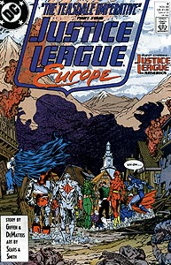 Justice League Europe, Vol. 1, #8. Image © DC Comics
