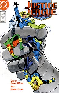 Justice League International, Vol. 1, #11. Image © DC Comics