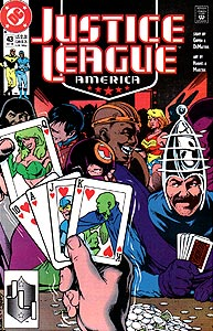 Justice League America 43.  Image Copyright DC Comics