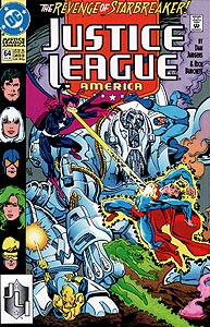 Justice League America, Vol. 1, #64. Image © DC Comics