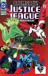 Justice League America 69.  Image Copyright DC Comics