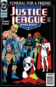 Justice League America 70.  Image Copyright DC Comics