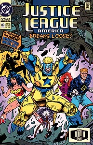 Justice League America 80.  Image Copyright DC Comics