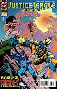 Justice League America 87.  Image Copyright DC Comics