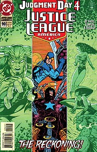 Justice League America 90.  Image Copyright DC Comics