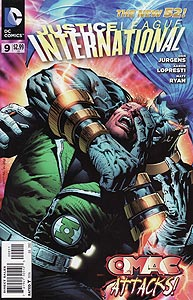 Justice League International, Vol. 3, #9. Image © DC Comics