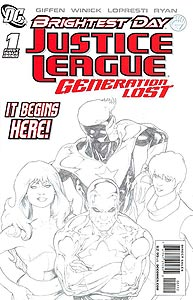 Justice League: Generation Lost 1. Reprint Cover Image Copyright DC Comics