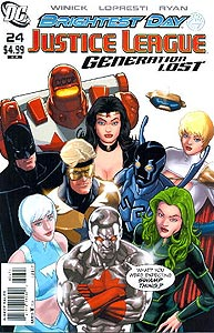Justice League: Generation Lost 24. Variant Cover Image Copyright DC Comics