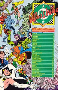 Who's Who: The Definitive Directory of the DC Universe, Vol. 1, #19. Image © DC Comics