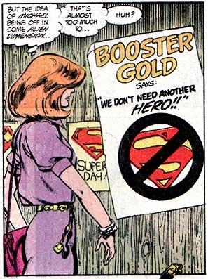 Booster Gold boycotts the Superman Celebration