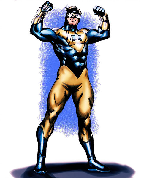 Booster Gold fan art by AldoRaine13 via DeviantArt.com