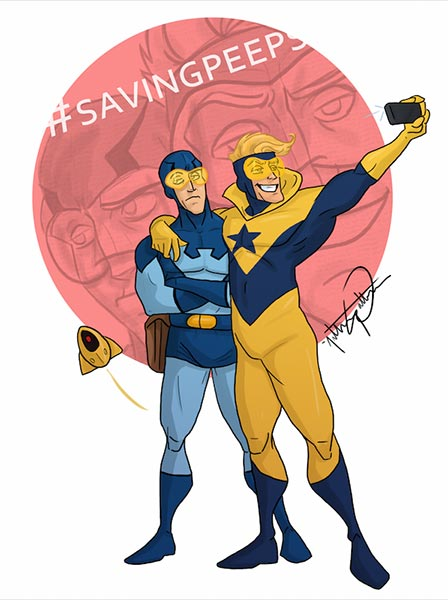 Blue Beetle and Booster Gold Animated by AnthonyWall