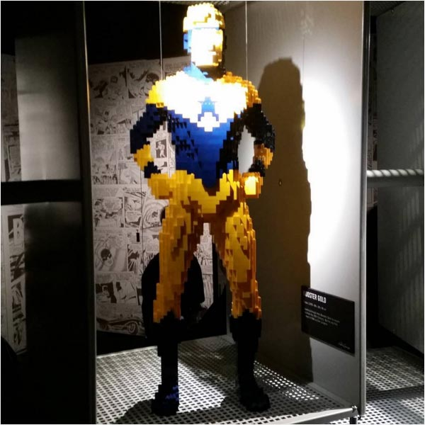 Art of the Brick: DC Comics Booster Gold photo by iron_paw