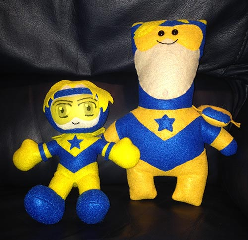 The Blot's Booster Gold plush