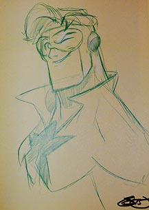 Sean 'Cheeks' Galloway draws Booster Gold for The Blot Says