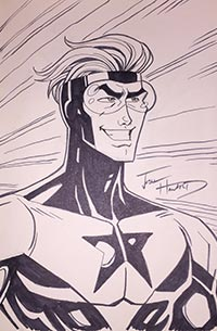 Josh Howard draws Booster Gold for The Blot Says