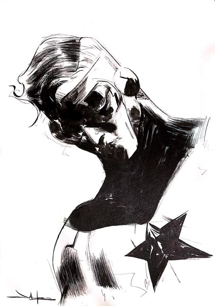 Jae Lee draws Booster Gold for The Blot Says