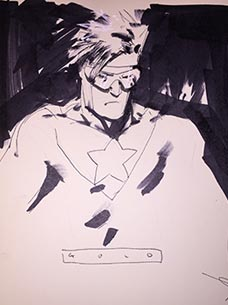 Jock draws Booster Gold for The Blot Says