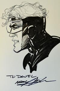 Neal Adams draws Booster Gold for The Blot Says