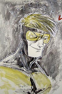 Ben Templesmith draws Booster Gold for The Blot Says