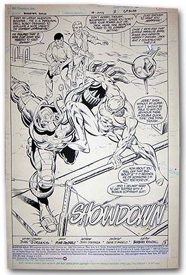 Booster Gold 18 Splash Page, © DC Comics Inc