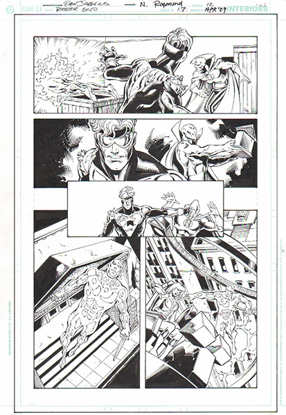 Dan Jurgens pencils and Norm Rapmund inks