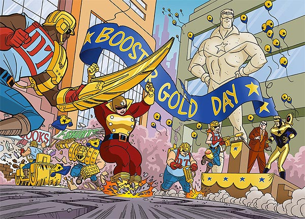Original Man of Gold art by Tim Levins