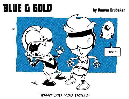 Blue and Gold by Denver Brubaker