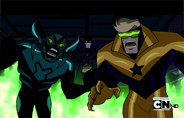 Booster Gold on Batman: the Brave and the Bold