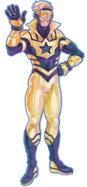 Booster Gold Costume redesign by celebrenithil