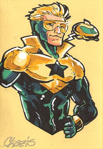 Booster Gold by Chris Kasmar at DeviantArt.com