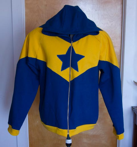 Booster Gold custom hoodie by Contagious