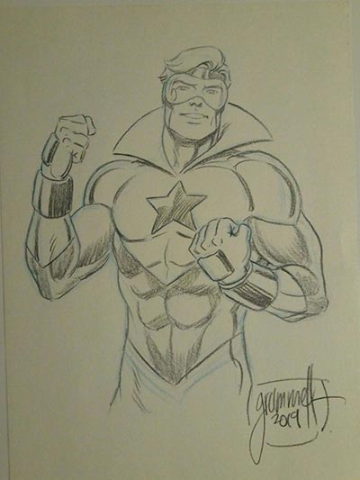Booster Gold by Tom Grummett