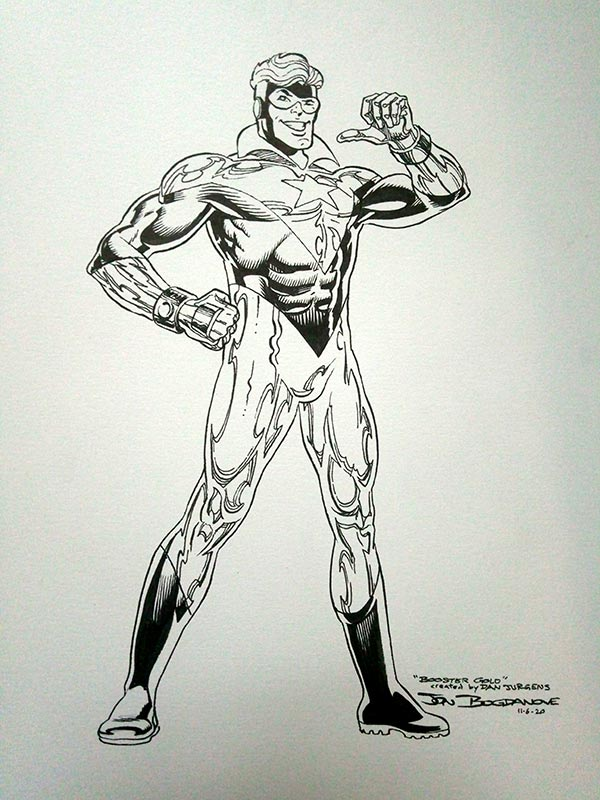 Booster Gold by Jon Bogdanove for Cort Carpenter