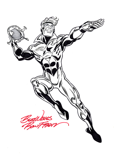 Booster Gold by Ron Frenz