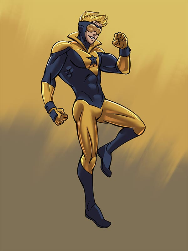 Booster Gold by nerdmurder