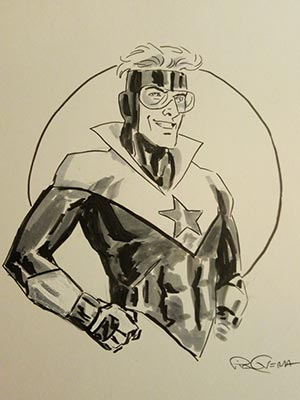 Pia Guerra draws Booster Gold for Cort