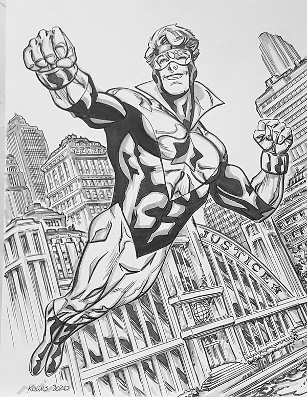 Booster Gold by Scott Kolins for Cort Carpenter