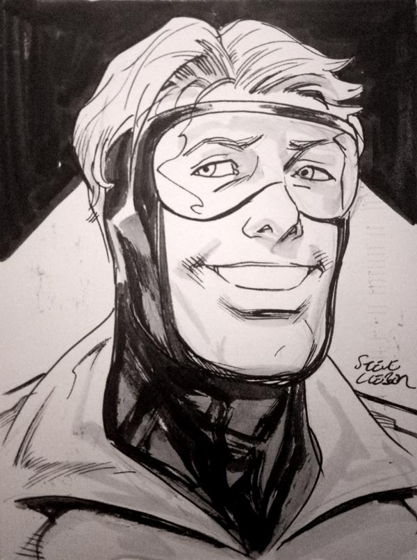 Booster Gold by Steve Lieber for Cort Carpenter